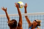 Participation au volley de plage